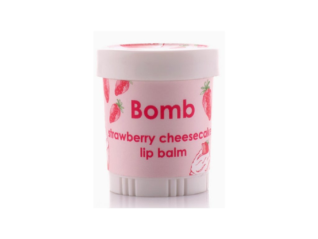 Bomb Cosmetics Strawberry Cheesecake balzám na pery, 4,5g