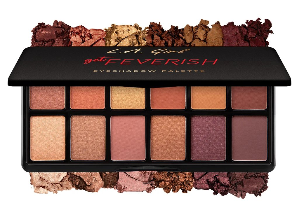 La Girl Cosmetics Fanatic Eyeshadow palette Get Feverish paletka očných tieňov