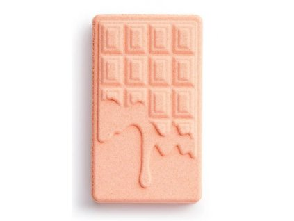 Revolution Chocolate Bar Bath Fizzer Peach, bomba do kúpeľa, 110g