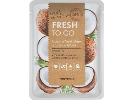 Tony Moly Fresh To Go Coconut Mask Sheet textilná maska na tvár s avokádom