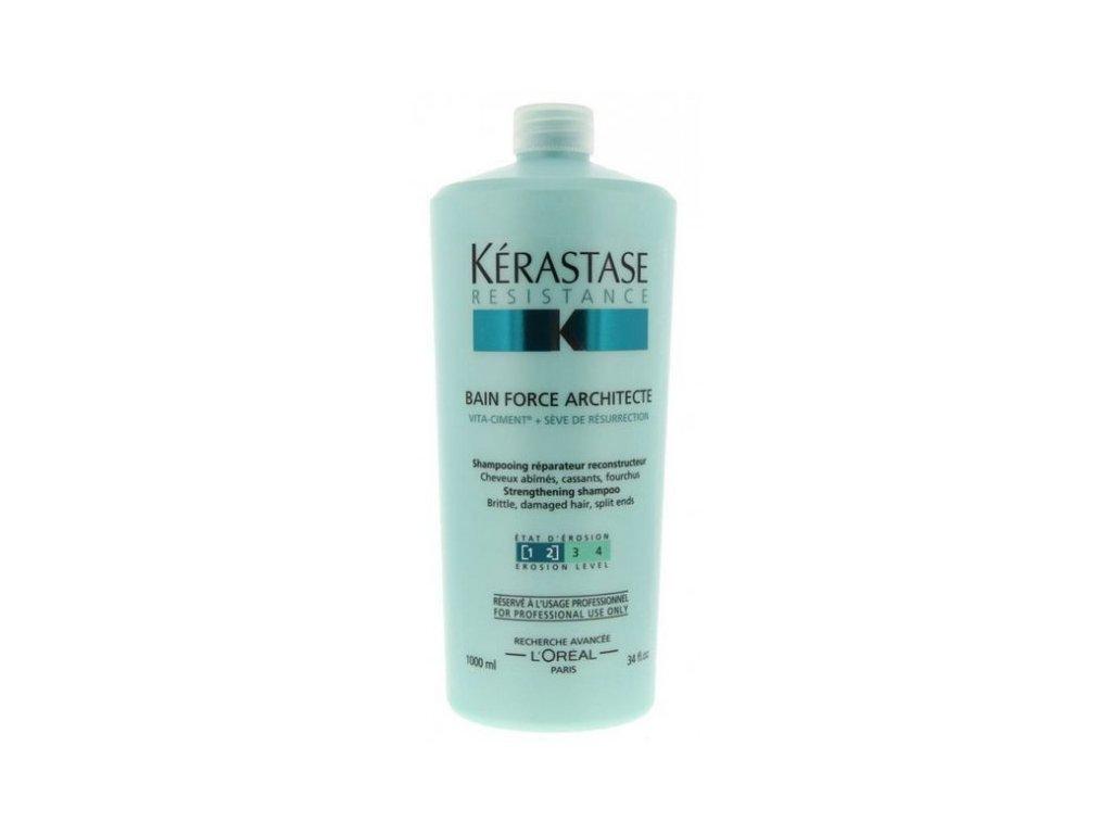 Kérastase Résistance Bain Force Architecte - šampon pro poškozené vlasy 1000 ml
