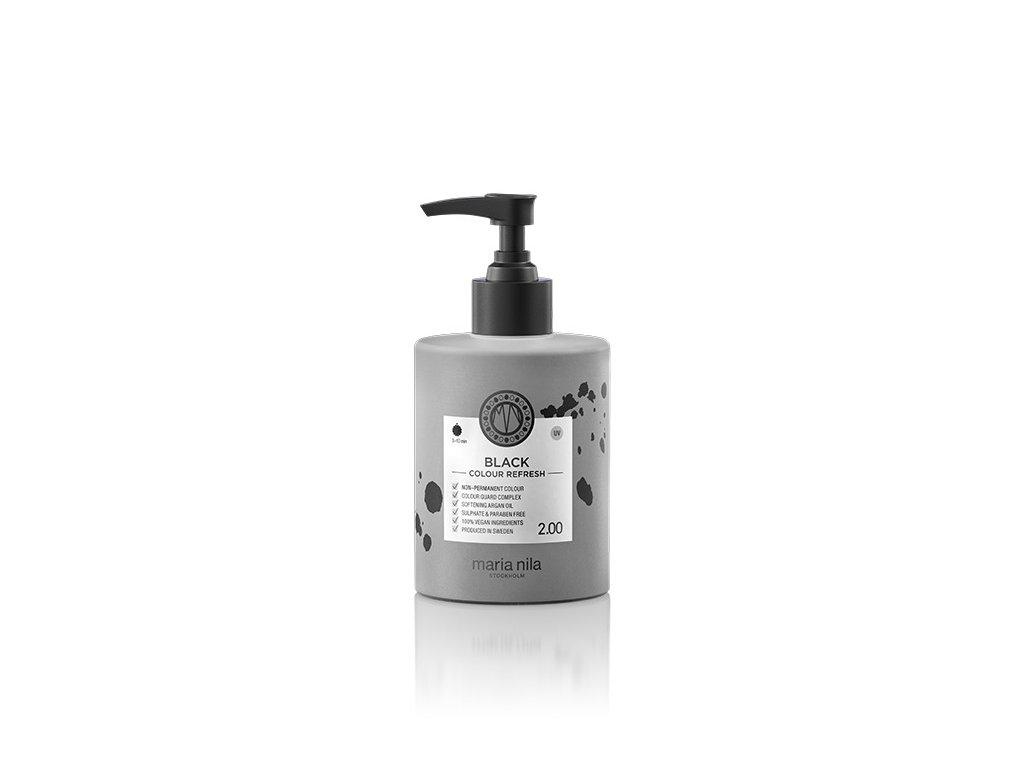 Maria Nila Colour Refresh Black 2.00 300 ml  + Jednorázové rukavice na barvení zdarma + Vzorek šamponu Maria Nila