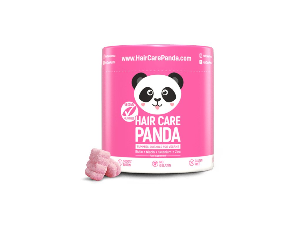Hair Care Panda Vegan Gummies - vitamíny na vlasy 60 ks