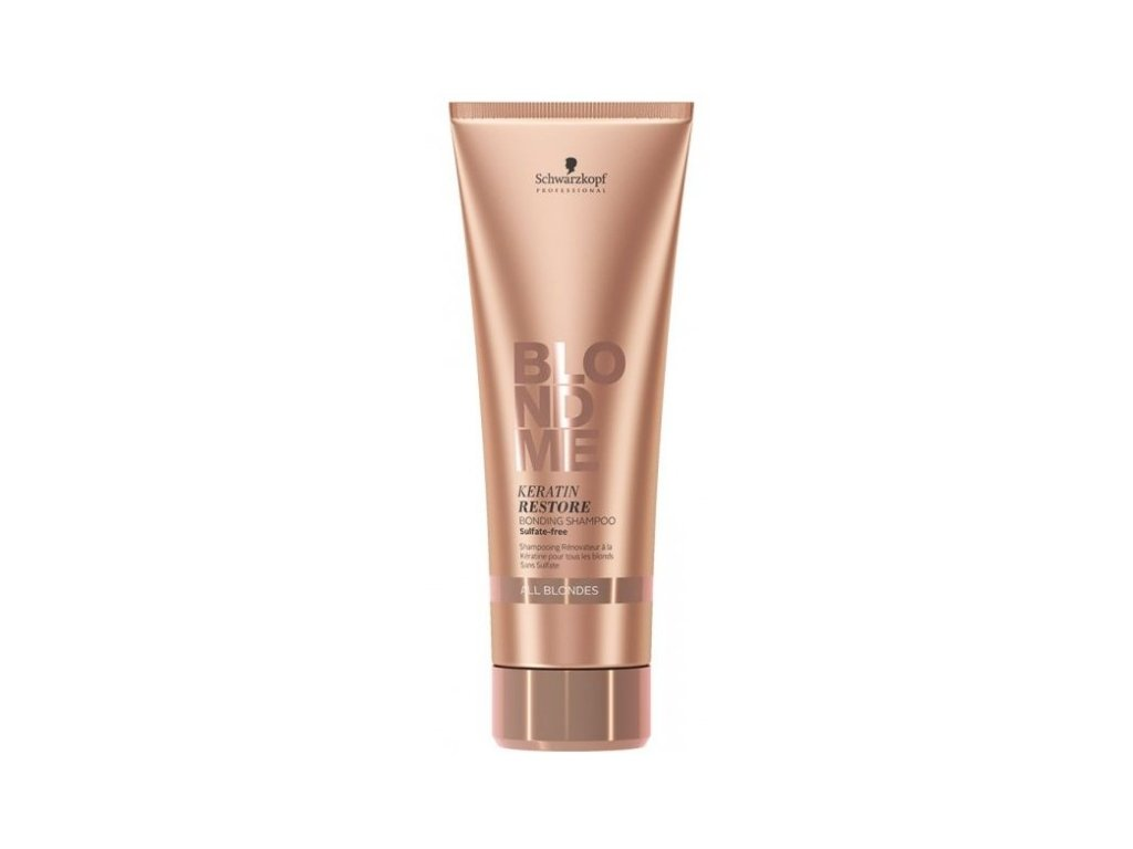 3813 schwarzkopf professional blondme keratin restore shampoo 250 ml