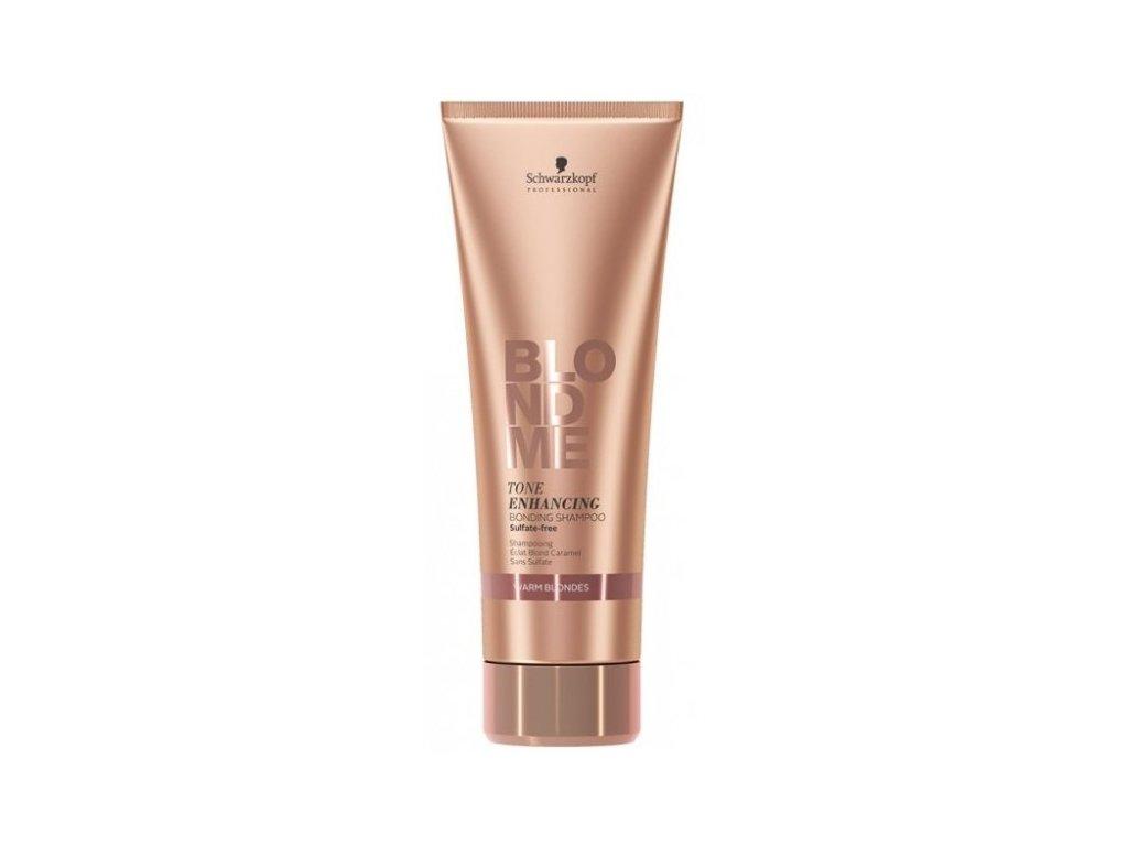 3819 schwarzkopf professional blondme tone enhancing bonding shampoo warm blondes 250 ml