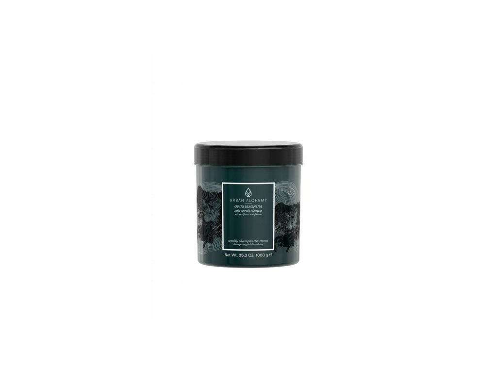 Urban Alchemy OPUS MAGNUM salt scrub cleanse šampon 1000ml