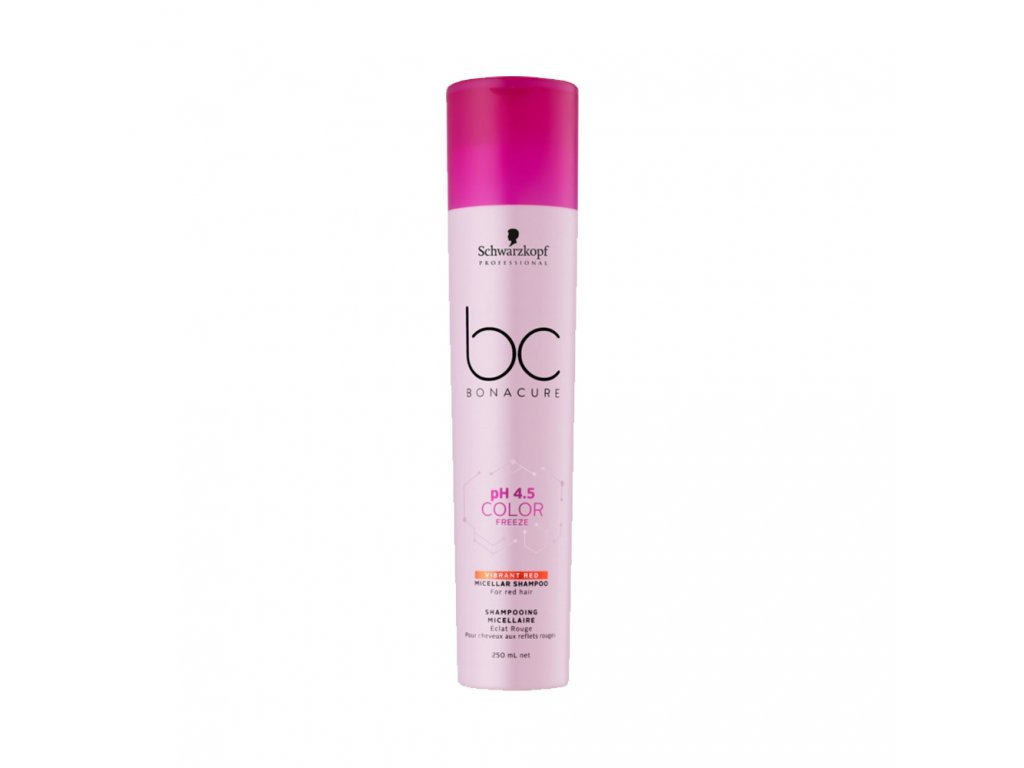 Schwarzkopf Professional pH 4,5 BC Bonacure Color Freeze Vibrant Red Micellar Shampoo 250 ml