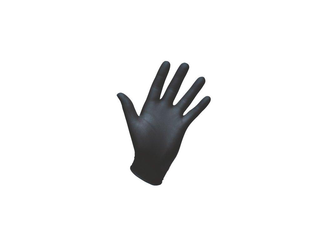 Healthgard nitrilové rukavice nepudrované černé 200ks