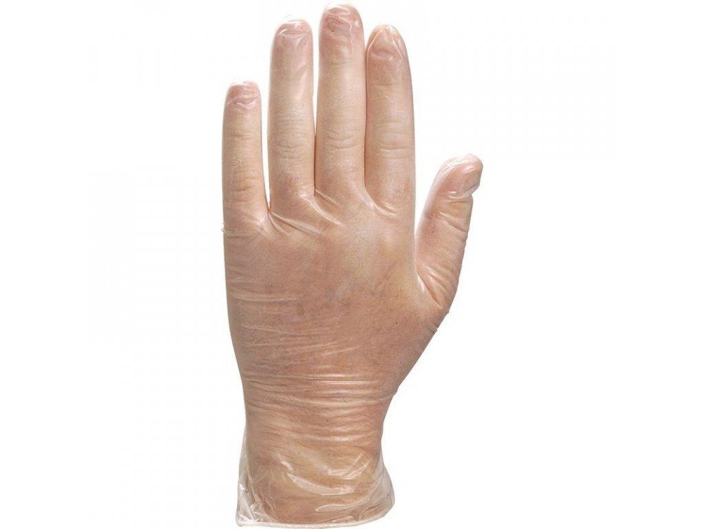 rukavice jednorázové vinylové transparentní