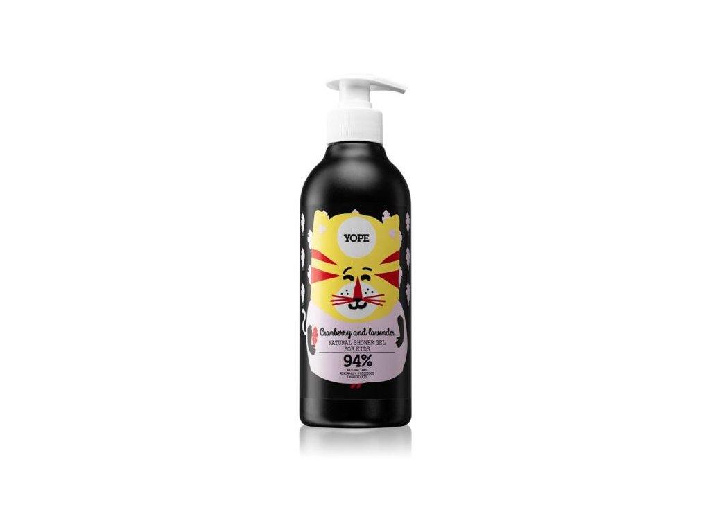 Yope shower gel for kids cranberry lavender 400ml