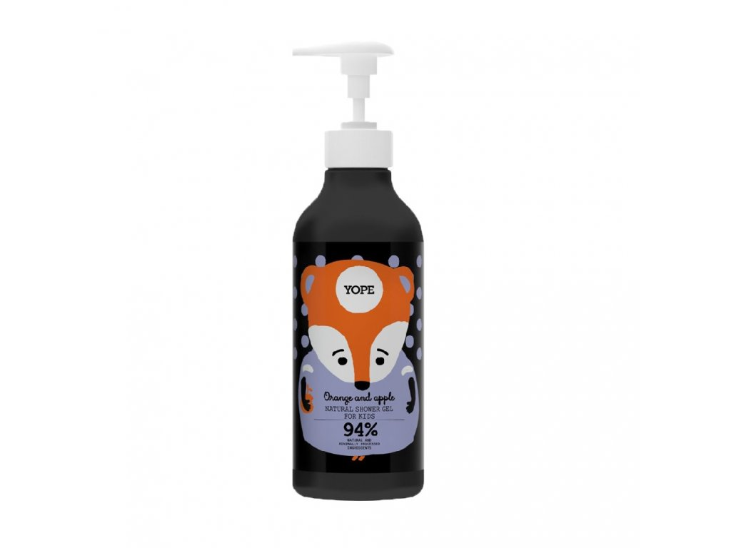 Yope shower gel for kids Orange and Apple 400ml