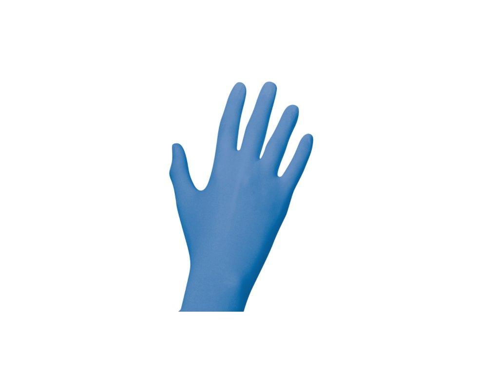 Unigloves nitrilové rukavice blue detail