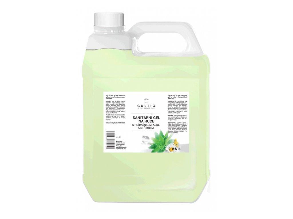 Gultio sanitární gel na ruce s aktivním stříbrem 3000 ml
