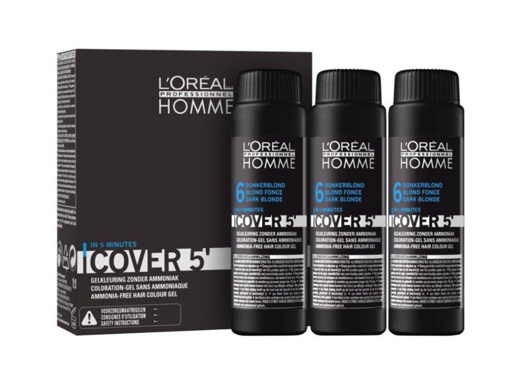 L'Oréal Homme Cover 5 6 tmavá blond 3 x 50 ml