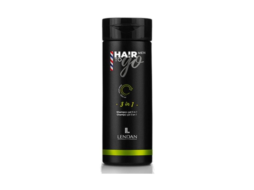 Lendan Hair to Go Men 3in1 sprchový šampón pro muže 100 ml