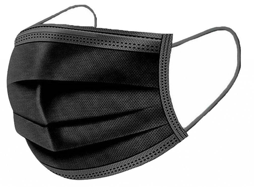 Jednorázová ustní rouška černá