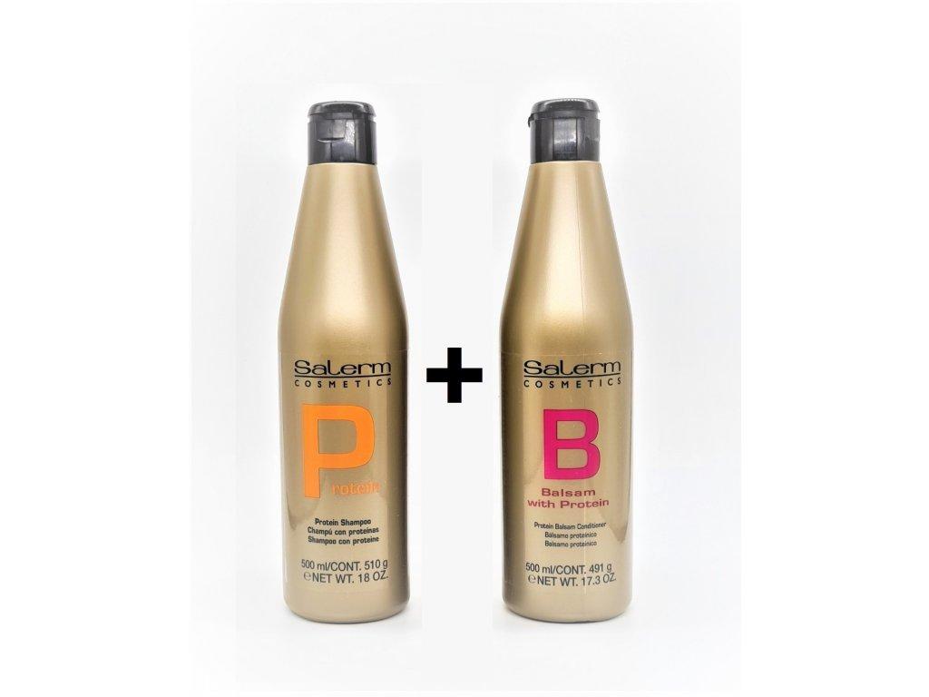 Balzám šampon s proteiny 500ml P+B