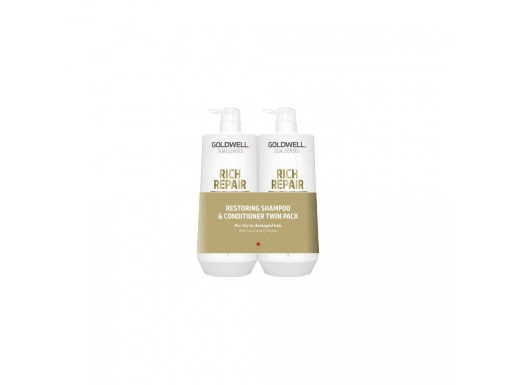 Goldwell Dualsenses Rich Repair Restoring Shampoo & Conditioner Twin 2x1000ml