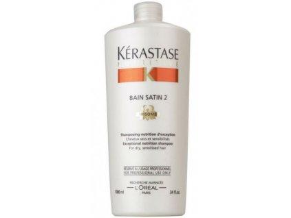 Kérastase Nutritive Bain Satin 2 Irisome - šampon 1000 ml  + Dávkovací pumpa zdarma