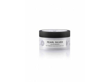 Maria Nila Colour Refresh Pearl Silver 0.20 maska s barevnými pigmenty 100 ml  + Jednorázové rukavice na barvení zdarma + Vzorek šamponu Maria Nila