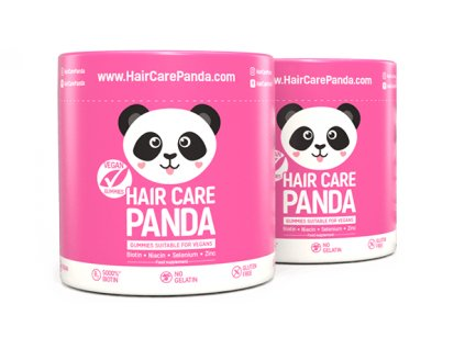 Hair Care Panda Vegan Gummies - vitamíny na vlasy 2 x 60 ks