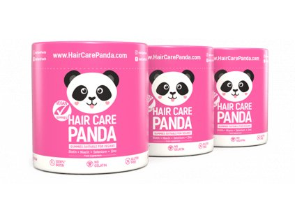 Hair Care Panda Vegan Gummies - vitamíny na vlasy 3 x 60 ks