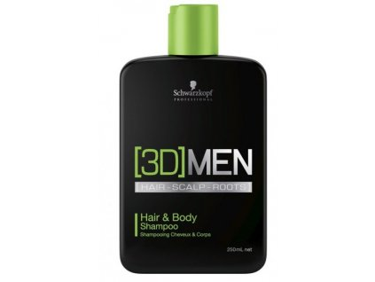 3969 schwarzkopf professional 3d men hair body shampoo 250 ml