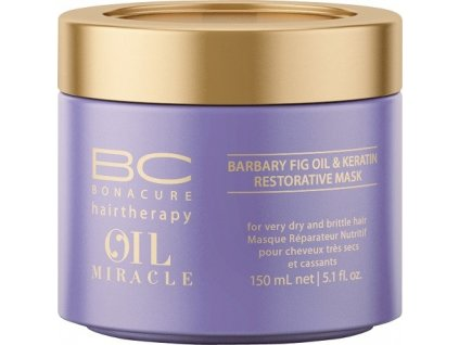 4194 schwarzkopf bc bonacure oil miracle barbary fig oil restorative mask 150 ml