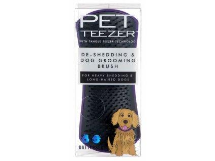 Tangle Teezer Pet Teezer de shedding purple 1