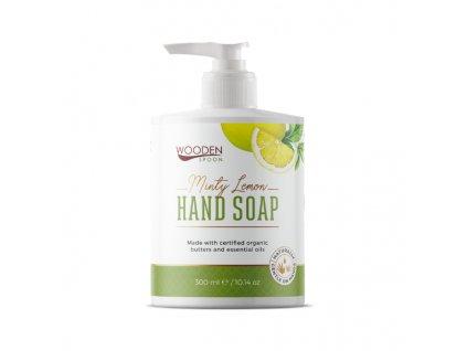 Wooden Spoon tekuté mýdlo máta citron 300 ml
