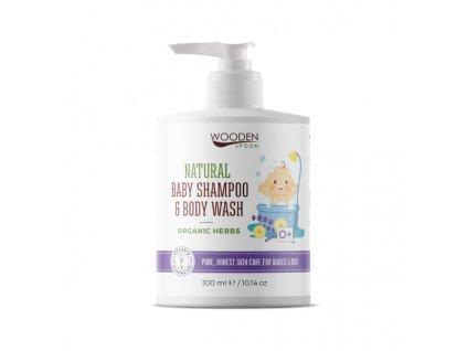 Wooden spoon dětský sprchový gel 2v1 300 ml