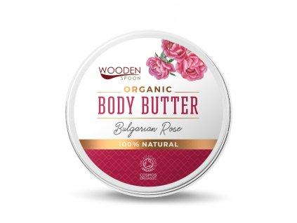 Wooden Spoon tělové máslo bulharská růže 100ml