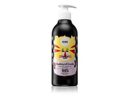Yope shower gel for kids cranberry lavender 400ml