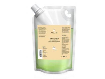 Tekuté mýdlo se stříbrem, aloe vera, šalvějí a lanolínem náhradní náplň 1000 ml