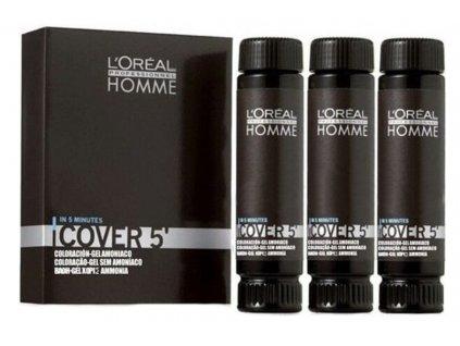 L'Oréal Homme Cover 5 5 světlá hnědá 3 x 50 ml
