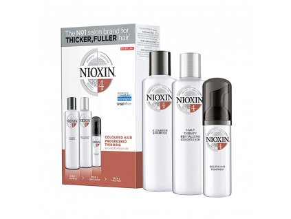 Nioxin System 4 Cleanser sampon 150ml Scalp Revitaliser kondicioner 150ml Scalp Treatment 40ml