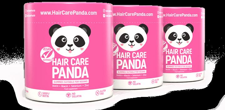 Hair Care Panda Vegan Gummies - vitamíny na vlasy 3 x 60 ks