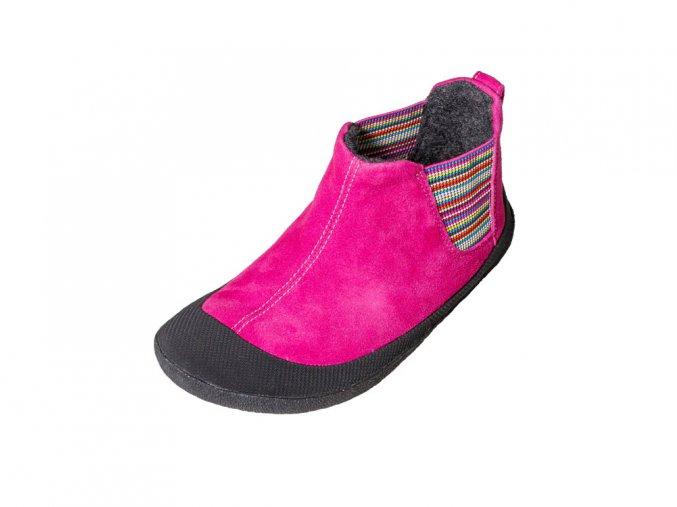 Portia fuchsia ankle