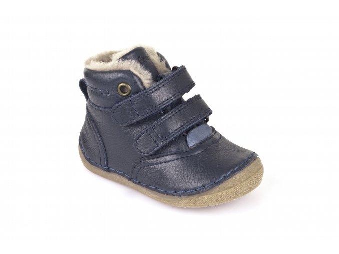 Ankle Boots Dark Blue, 100% fur