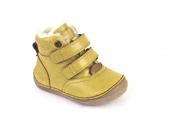 Ankle Boots Yellow, 100% fur