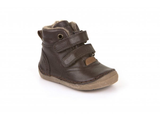 Ankle Boots Dark Brown, 100% fur