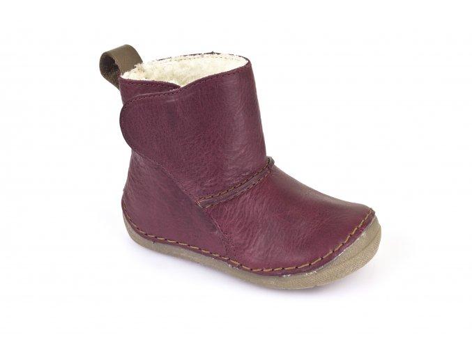 Boots Bordeaux, 100% fur