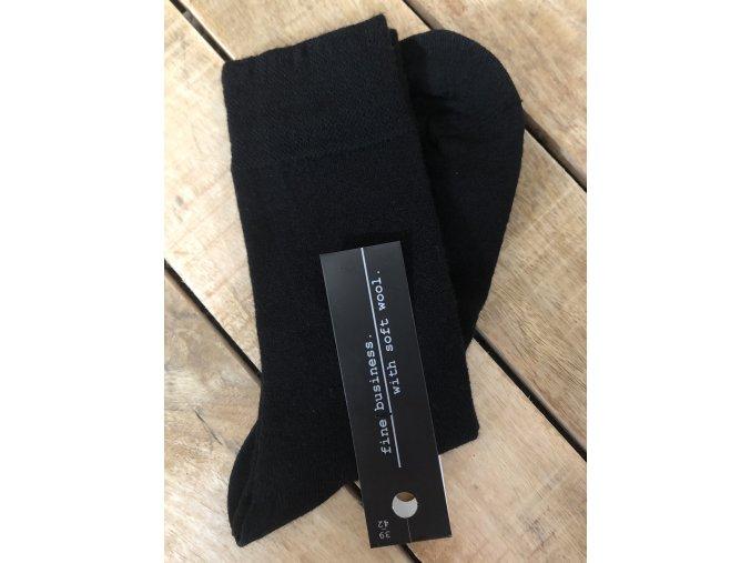 Ponožky s prímesou vlny - black (Veľkosť 47 - 50)
