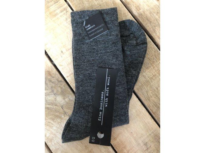 Ponožky s prímesou vlny - antracit (Veľkosť 47 - 50)