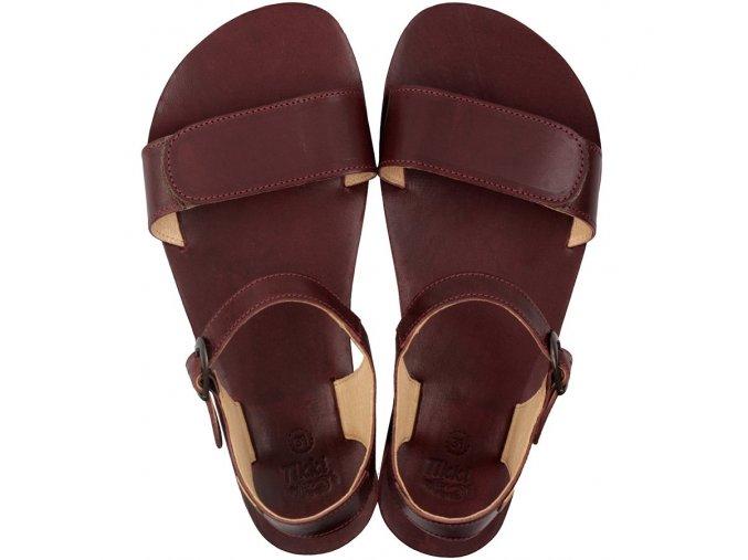 funky vibe barefoot women s sandals burgundy 16194 4