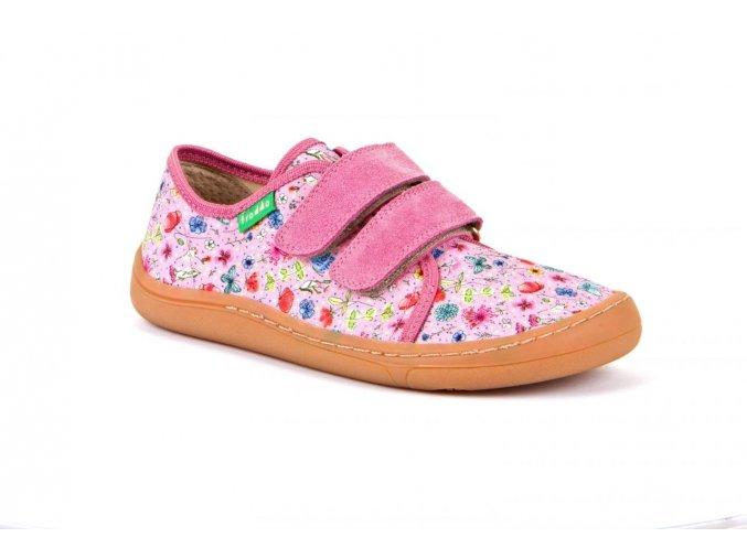 Froddo Barefoot sneakers Pink + canvas