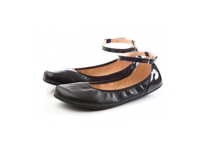 TULIP II Black barefoot ballerinas