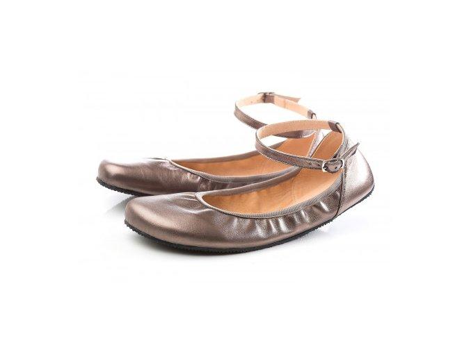 TULIP II Bronze barefoot ballerinas