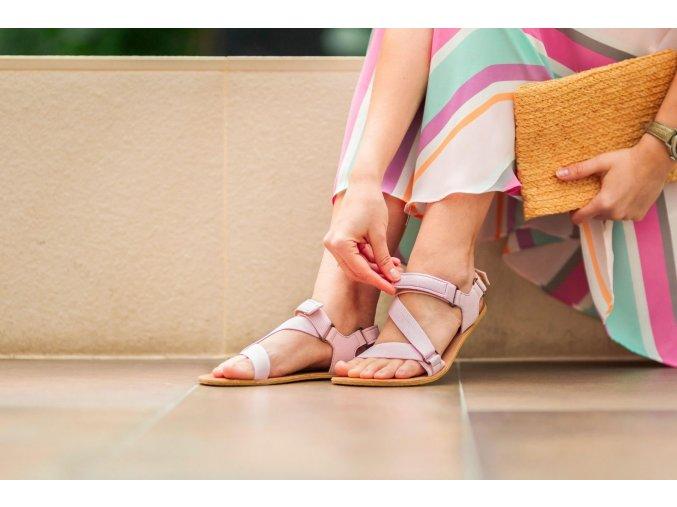 Barefoot sandals Be Lenka Flexi - Pink