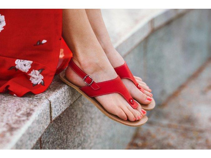 Barefoot sandals Be Lenka Promenade - Red